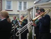 A full trombone section!